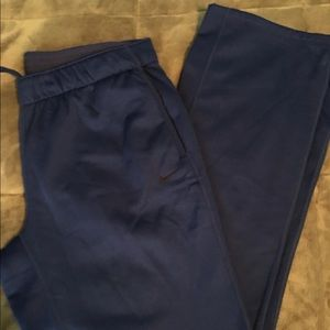 Nike ThermaFit Sweat Pants Navy size large